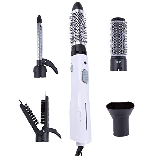 (Curling Brush Set Styling Hot Air Brush 5 In1 Ionic Hair Dryer Volumizer Long Short Hair Curler Styler Brush Blow Dryer Hair Straightener Curly Ceramic Travel Curling Iron Tong Tool Comb 110V/220V)