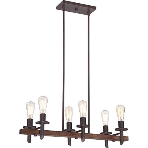 Quoizel TVN232DK 6-Light Tavern Island Chandelier in Darkest (Quoizel Wood Table Lamp)