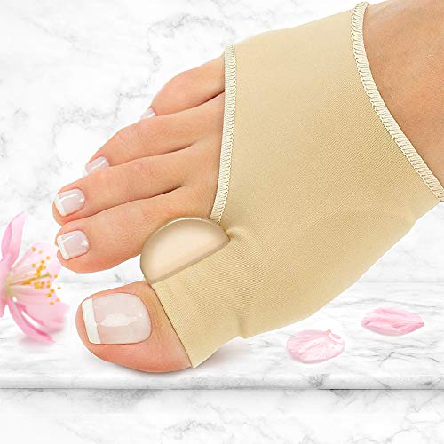 PediDoc Bunion Corrector - Bunion Relief Sleeves Bunion Pads Brace Cushions Toe Straightener with Gel Toe Separator, Spacer, Straightener and Spreader - Hallux Valgus Relief Big Toe Alignment