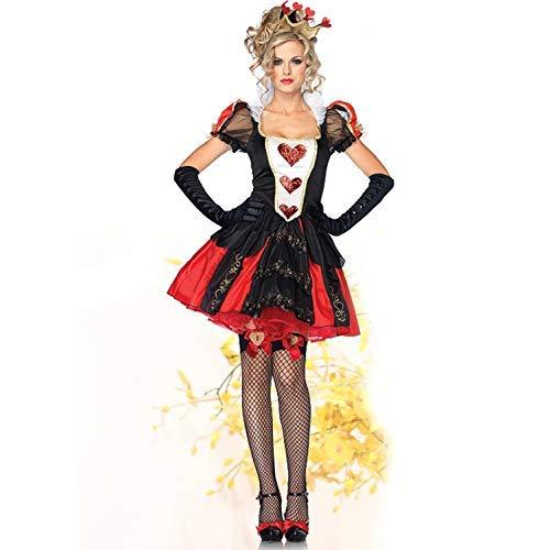 Women's Red Queen Triple Hearts 2-Piece Sexy Dress Cosplay Halloween Costume - DeluxeAdultCostumes.com