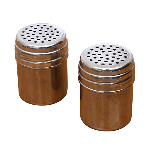 ainless Steel Seasoning Jar, Spice Bottle Chilli Shaker Condiment Storage Tin, Sugar Dredger Shaker with Perforated Top Holes, for Salt, Pepper, Herbs Or Seasoning(silver) ()