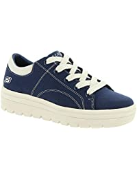 Womens Street Cleat. Canvas Contrast Stitch Lace Up Sneaker