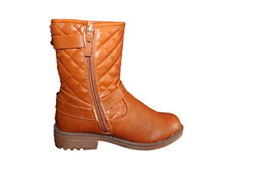 jili-bottines stylées-marron caramel-fille