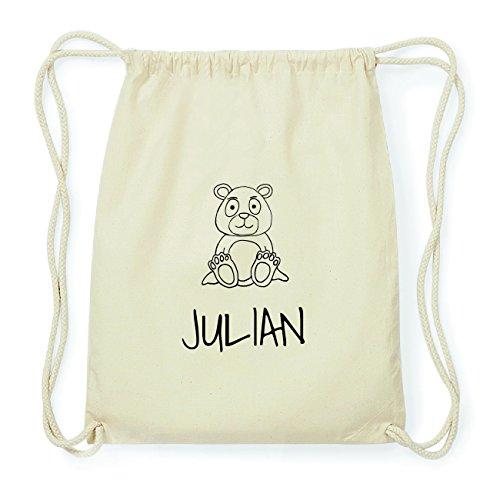 JOllipets JULIAN Hipster Turnbeutel Tasche Rucksack aus Baumwolle Design: Bär