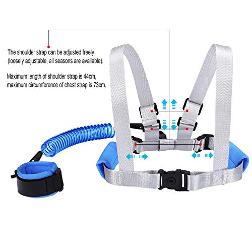 Blisstime 2 in 1 Toddler Leash -Anti Lost Wrist Link for Toddlers -Toddler Harness,Baby Leash,Leash for Toddlers,Wrist Leashes,Child Leashes for Toddlers,Not Easy to Open Without Key by Blisstime (Image #3)