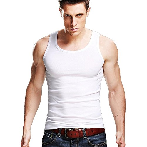 Xudian Men Tank Top Sleeveless A-shirt Crew-neck, US Size: Large, Asian Size: XX-Large