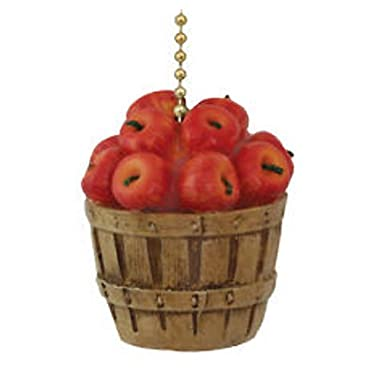 Clementine Country Kitchen Apple Basket Ceiling Fan Pull Light Chain
