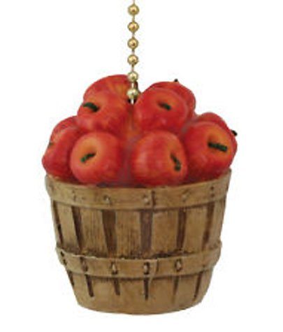 Country Kitchen Apple Basket Ceiling Fan Pull Light Chain