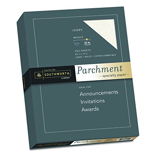Southworth Parchment Paper, 8-1/2 x 11 Inches, 250 Per Box, Ivory (SOUJ988C)