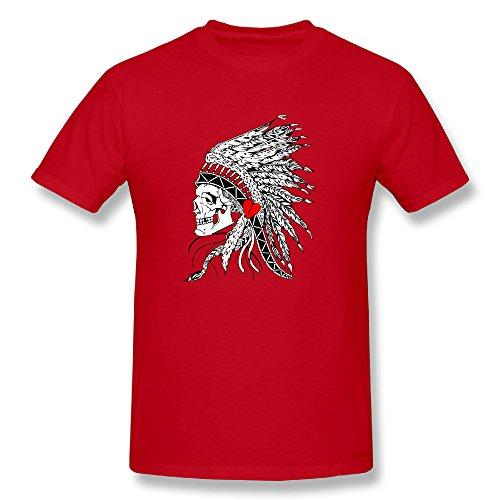 CO Mens War Of Hearts Gypsy Skull T Shirt Red]()