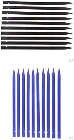 オープニングツール 携帯修理ツール ヘラ 彫刻 粘土細工 黒+青 40本