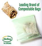 BioBag Resealable Compostable Sandwich Bags, 25