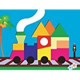 Puzzled Train Jigsaw Raised Wooden Puzzle