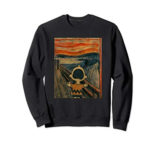 Peanuts Charlie Brown Scream Artsy Pullover Sweatshirt ()