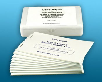 Peca Lens Paper Type 1 Class 5 - Lens cleaning tissue - 10 pack with Case