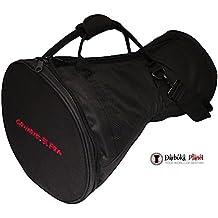 Gawharet El Fan - Professional Black Doumbek/Darbuka Classic & Sombaty Size -Bag Carry Case - Premium Fabric Gig-bag