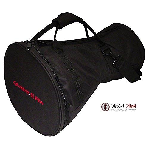 Gawharet El Fan - Professional Black Doumbek/Darbuka Classic & Sombaty Size -Bag Carry Case - Premium Fabric Gig-bag by Gawharet El Fan