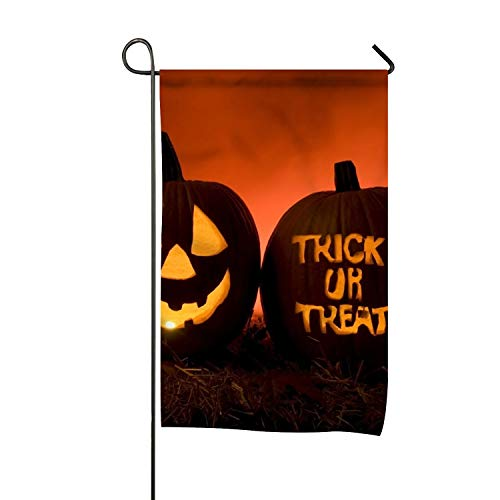 BYUII Halloween Trick or Treat Clip Art Welcome Garden Flag Vertical Outdoor and -