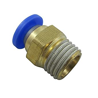 "2x Pneumatic Y Splitter 1//2/"" NPT to 1//4/"" Hose OD Air Push Quick Connect Fitting"