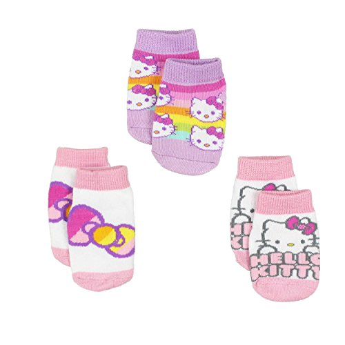 Hello Kitty Baby Girls 3 pack Gripper Socks (12-24 Months, (Hello Kitty Knee High Socks)