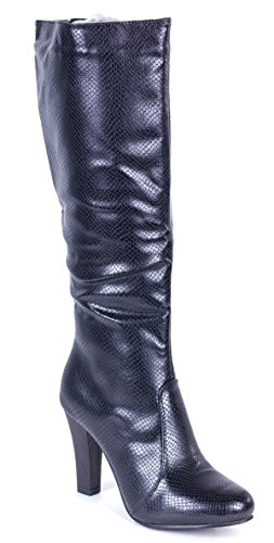 Textured Knee Boots Couture Young Heel High Women's Forever 0Pxg6qwpp
