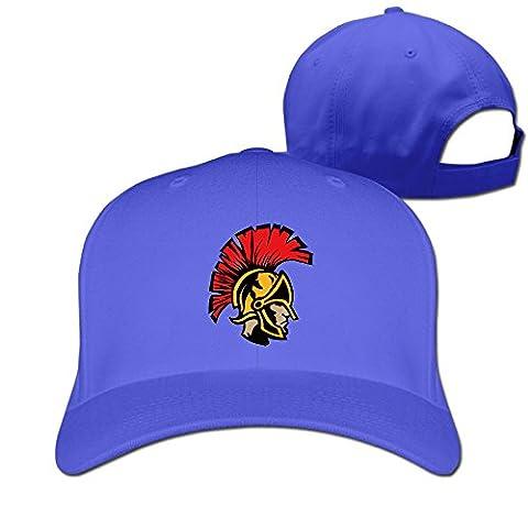 Mens Womens Spartan Head Pure Snapback Peaked Cap Baseball Hats RoyalBlue (Chief Head Snapback)