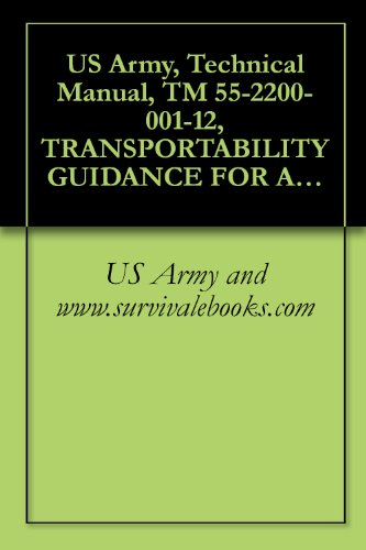 US Army, Technical Manual, TM 55-2200-001-12, TRANSPORTABILITY GUIDANCE FOR APPLICATION OF BLOCKING, BRACING TIEDOWN MATERIALS FOR RAIL TRANSPORT, - 001 Rail