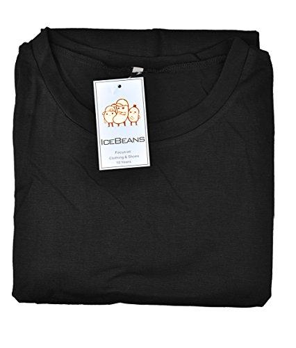 Casual T Short Women's Loose Shirt Sleeve Black IceBeans Dress tU7wHyqU