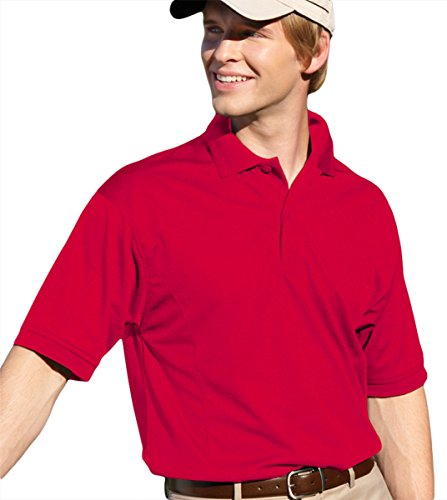 Willow Pointe Men'S Willowtec Mesh Performance Polo (Red) (L)