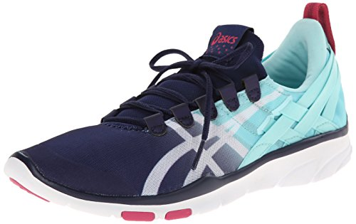 ASICS Womens GEL-Fit Sana Cross-Training Shoe NavyWhiteHot Pink 8.5 M US