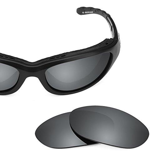 Verres de rechange pour Wiley X Airrage — Plusieurs options Noir Chrome MirrorShield® - Polarisés