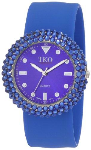 TKO ORLOGI Women's TK613BL Crystal Blue Slap Watch