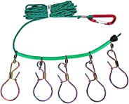 Fishing Lock Fishing Stringer Buckle Combination Fish Stringer with 5 Buckle for Fishing