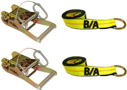 BA Products 38-23-38-1-x2, Set of 2 Straps & Wide Handle Ratchet with Hitch Pin for Wheel Lift by BA Products