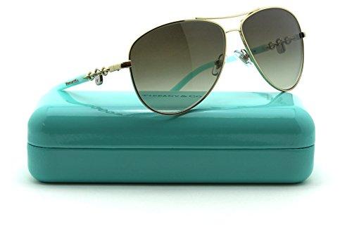 Tiffany & Co. TF 3034 Women Metal Aviator Sunglasses 60213M Green - And Co Tiffany Case Sunglasses