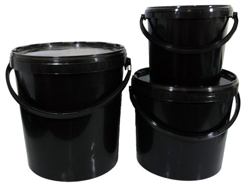 Heavy Duty Watertight 11 Litre Bucket and Lids x 5 Trade Garden Supplies