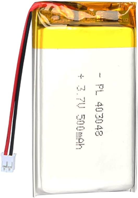 AKZYTUE 3.7V 500mAh 403048 Lipo Battery Rechargeable Lithium Polymer ion Battery Pack with JST Connector