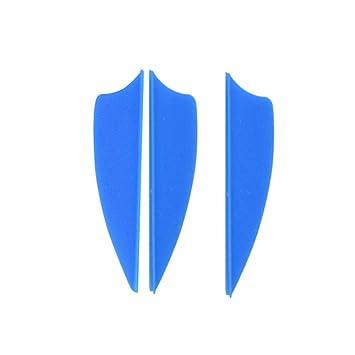 a4f12011a ZSHJG 50 pcs Tiro con Arco de Goma Plumas de Flecha 2.5 Pulgadas 1.75  Pulgadas El Plastico Flecha Plumas Fletches para la Caza DIY Flechas   Amazon.es  ...