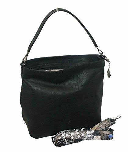 Borsa Spalla Ynot Sacca Nero In Pelle Sl07 Leather rR4qntwrx