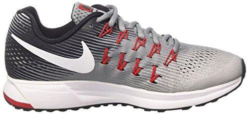 Nike Air Zoom Pegasus 33, Zapatillas de Running Para Hombre Gris (Stealth/White/Pure Platinum/Black/Univ Red)