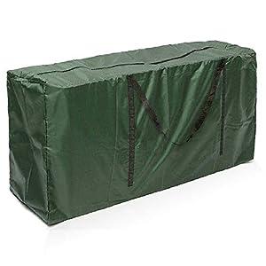 Enjoygoeu Bolsa de Almacenamiento Ligera e Impermeable de Árbol de Navidad Resistentes Carcasa de Transporte Liviana para Guardar Cojín Muebles Otros Accesorios de Jardín Patio (116 x 47 x 51 cm)