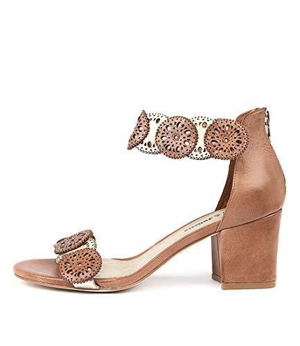 DJANGO & JULIETTE Legra Womens Heels Womens Shoes TAN PALE GOLD LEATHER