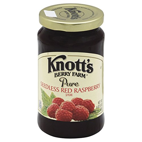 Knott's Berry Farm Pure Seedless Red Raspberry Jam, 16 Ounce
