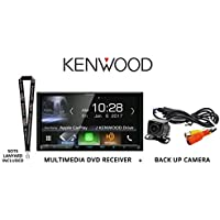Kenwood DDX9704S In Dash DVD CD 6.95 Touchscreen Display, Built in Bluetooth, HD Radio Tuner, with Universal Backup Camera and a FREE SOTS Lanyard