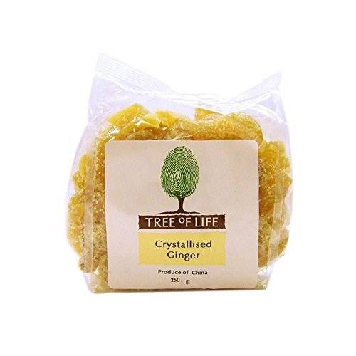 Tree of Life Crystallised Ginger 250g - Pack of 2 by Tree of Life