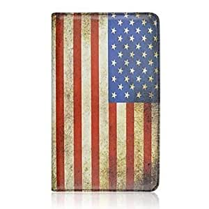 LZX American Flag 360 Degree Rotation PU Leather Case with Stand for Samsung Galaxy Tab S 8.4 SM-T700