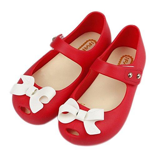 Red Girls Sandals - iFANS Women Girls Cute Bow Slip