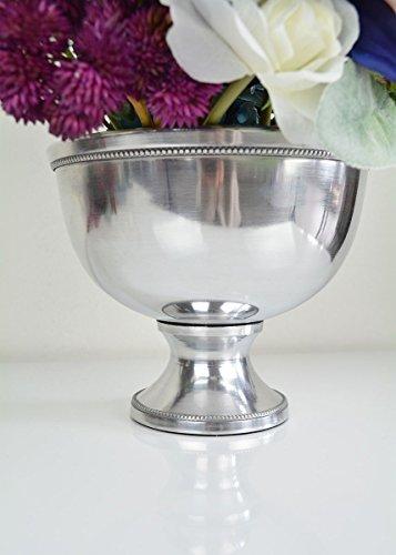 - Afloral Silver Metal Revere Centerpiece Bowl - 5.75