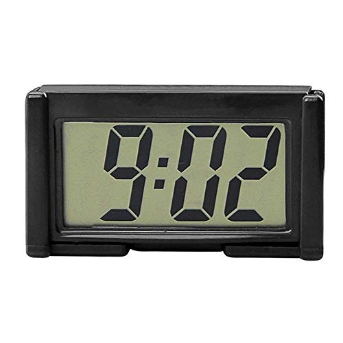 YOUNGFLY Mini Car Clock Auto Car Truck Dashboard Time Self-Adhesive Bracket Vehicle Electronic Digital Clock