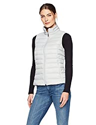 Amazon Essentials Women S Lightweight Water Resistant Packable Down Vest Light Grey Small